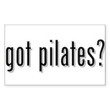 got pilates? Rectangle Decal