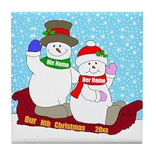 Our Nth Christmas Tile Coaster