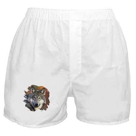 Gray Wolf Boxer Shorts