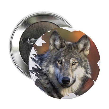 "Gray Wolf 2.25"" Button (10 pack)"