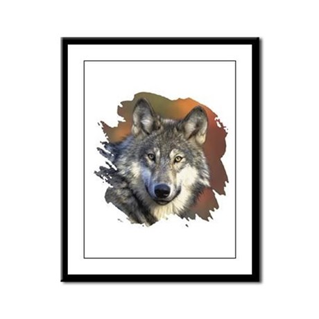Gray Wolf Framed Panel Print