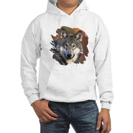Gray Wolf Hooded Sweatshirt