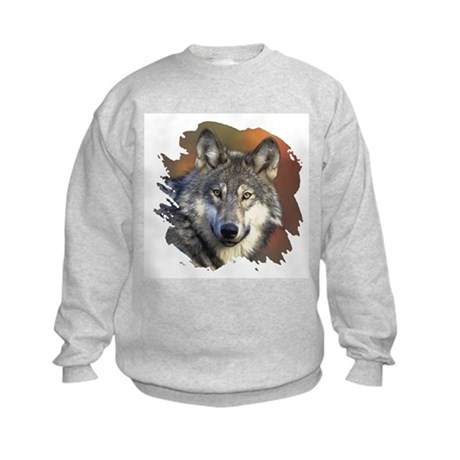 Gray Wolf Kids Sweatshirt