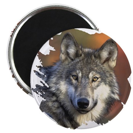"Gray Wolf 2.25"" Magnet (100 pack)"