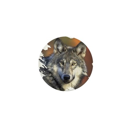 Gray Wolf Mini Button (10 pack)