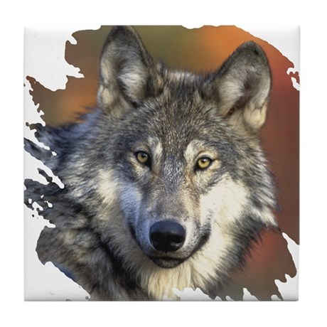 Gray Wolf Tile Coaster