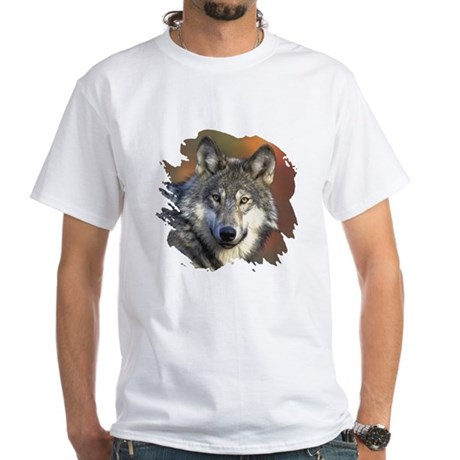 Gray Wolf White T-Shirt