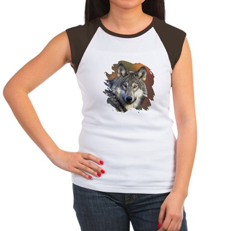 Gray Wolf Women's Cap Sleeve T-Shirt