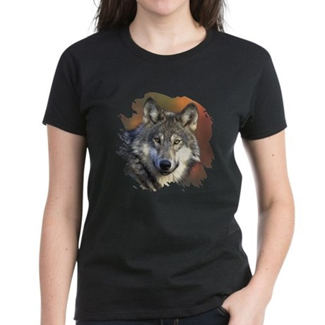 Gray Wolf Women's Dark T-Shirt