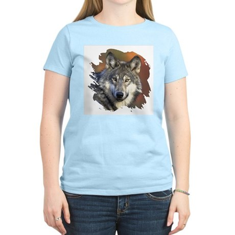 Gray Wolf Women's Pink T-Shirt