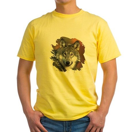 Gray Wolf Yellow T-Shirt