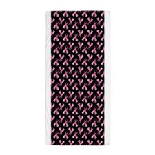 Breast Cancer Ribbon Beach Towel
