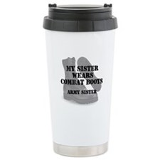 Army Sister wears CB Travel Mug