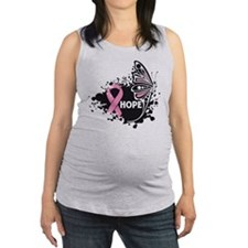 Hope Breast Cancer Butterfly Maternity Tank Top