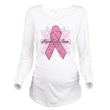 Breast Cancer Hope Faith Cure Long Sleeve Maternit