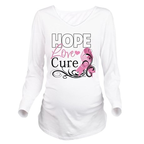 Breast Cancer Hope Love Cure 2.png Long Sleeve Mat