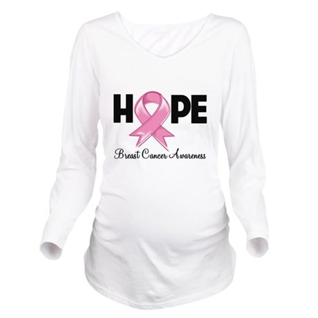 Hope Breast Cancer Awareness Long Sleeve Maternity
