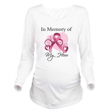 In Memory Hero Breast Cancer Long Sleeve Maternity
