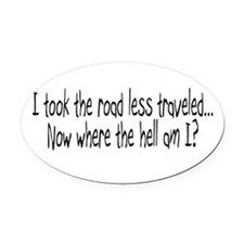 Funny Fuel prices Oval Car Magnet