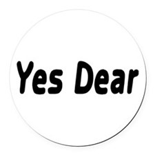 Yes Dear Round Car Magnet