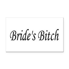 Bride's Bitch Rectangle Car Magnet