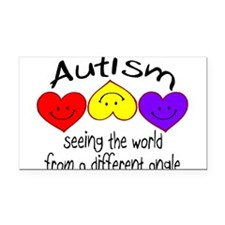 Funny Aba autism Rectangle Car Magnet