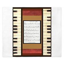 Piano Keys Sheet Music Song 5x7 King Duvet