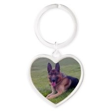 Love is german shepherd Heart Keychain