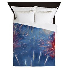 Fractal Fireworks Queen Duvet