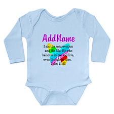 JOHN 11:25 Long Sleeve Infant Bodysuit