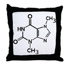 Chocolate theobromine organic compoun Throw Pillow