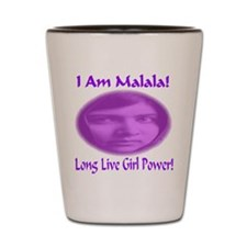 I Am Malala Long Live Girl Power Shot Glass