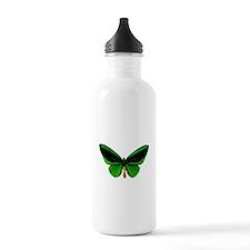 green butterfly Water Bottle