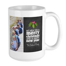Chalkboard Holiday Photo Card Mugs