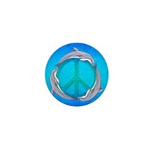 Dolphin Peace Mini Button (10 pack)