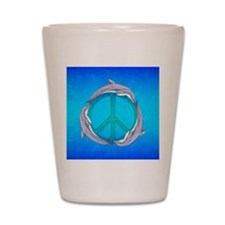 Dolphin Peace Shot Glass