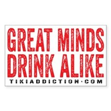 GREAT MINDS - WHITE Decal