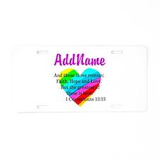 1 CORINTHIANS 13:13 Aluminum License Plate
