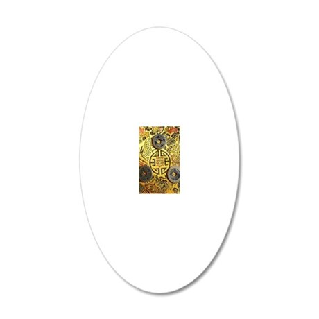 I-Ching 20x12 Oval Wall Decal