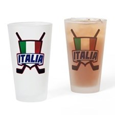 Italian Italia Hockey Drinking Glass