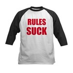 RULES SUCK Kids Baseball Jersey