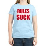 RULES SUCK Women's Pink T-Shirt