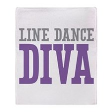 Line Dance DIVA Throw Blanket