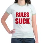 RULES SUCK Jr. Ringer T-Shirt