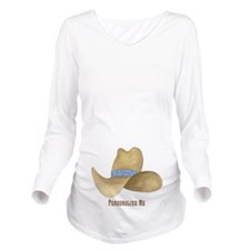 Personalized Cowboy Hat Long Sleeve Maternity T-Sh