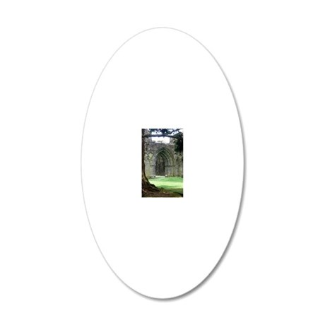 Inchmahome Priory 20x12 Oval Wall Decal