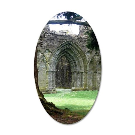 Inchmahome Priory 35x21 Oval Wall Decal