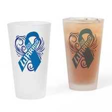 Colon Cancer Warrior Drinking Glass