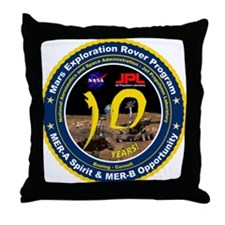 Mars Rovers 10th Birthday! Throw Pillow