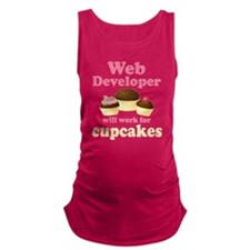 Web Developer Will Work For Cupcakes Maternity Tan
